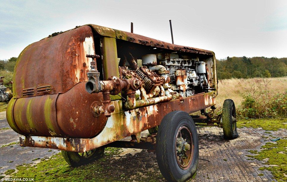 Vehicle graveyard of military vehicles dating back to World War ...