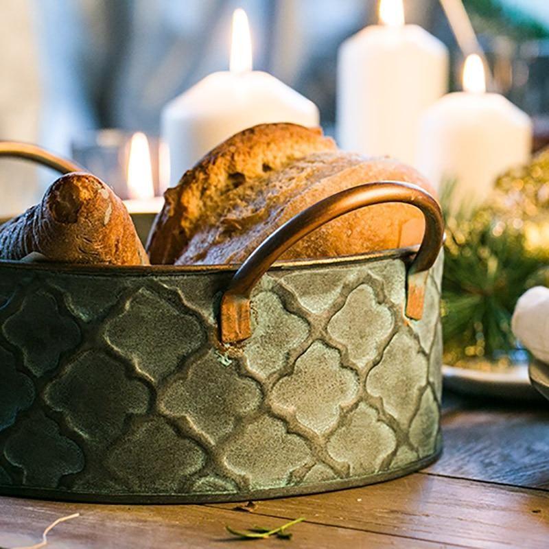 Photo of Antique Retro Style Iron Bread Basket