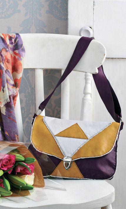 Sew a Geometric Leather Purse - Free PDF Pattern + How to Add a Tuck ...