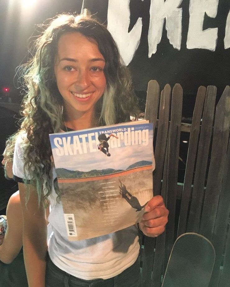 Huge congrats to Vans Skate's Lizzie Armanto who is the first girl ever to grace the cover of TransWorld Skateboarding Magazine!