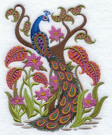 Peacock Embroidery Bordado Pinterest Peacocks Embroidery And