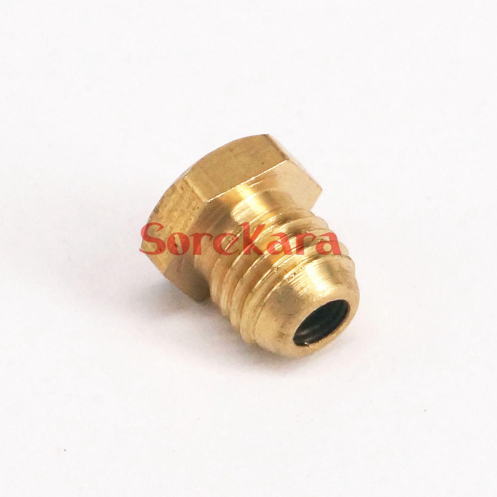 LOT 20 M8x1mm Metric male Thread Flush Straight Grease Zerk Nipple ...