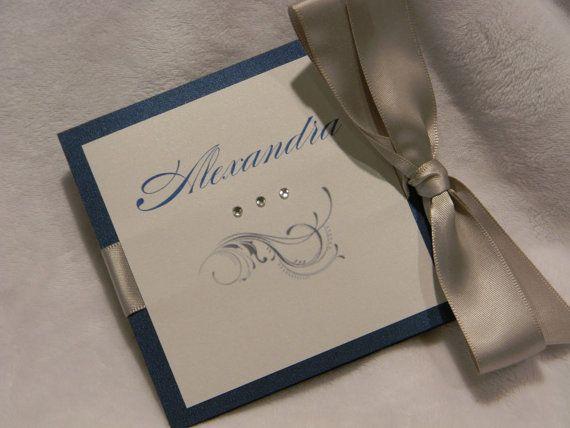 Werden Sie werden meine Brautjungfer Einladung Trifold mit Satinband auf Etsy, CHF3.73