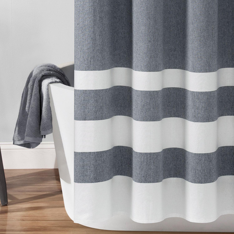 Lush Decor Cape Cod Stripe Yarn Dyed Cotton Shower Curtain
