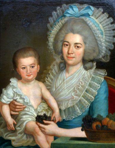 Détails sur Portrait de Dame de qualité sous Louis XVI