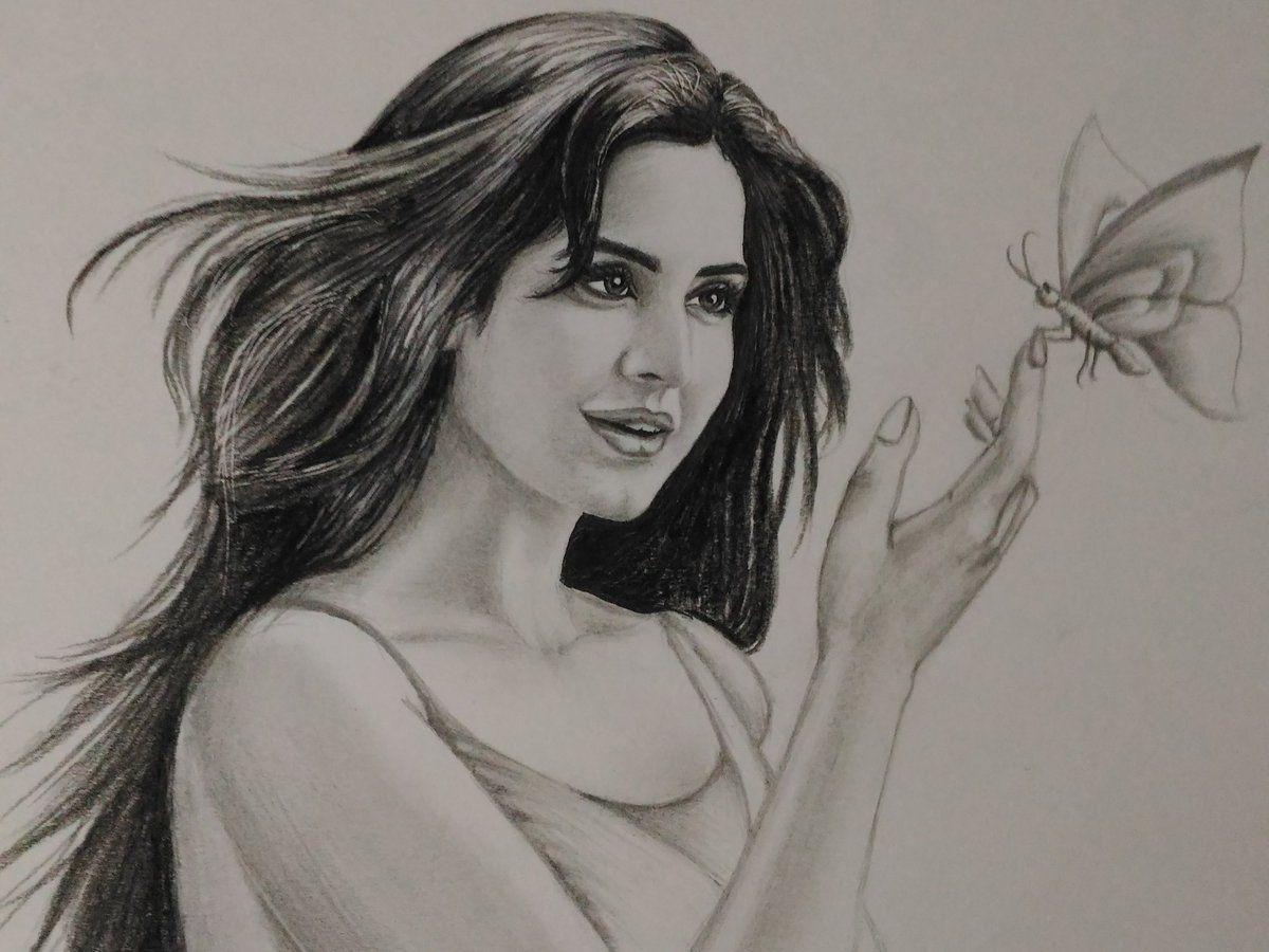 Katrina kaif café katrinakaifcafe twitter portrait sketches drawing sketches sketch