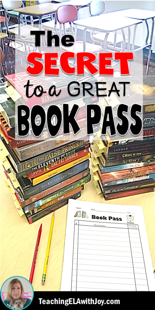 The Secret to a Great Book Pass (and 30 Middle School Titles to Use!) is part of Middle school books, Middle school libraries, Middle school reading, Book tasting, Library lessons, Middle school ela - A book pass is the perfect activity to get students hooked on reading! Learn how with The Secret to a Great Book Pass (and 30 Middle School Titles to Use!)