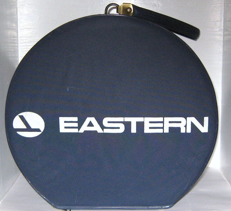 Vintage Eastern Airline Stewardess Carry On Bag ~ Round Pill Box Hat Tote