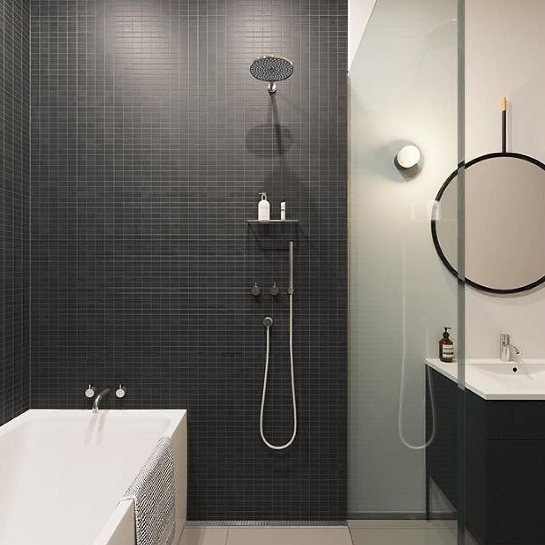 Regram @aptproperties #grünerløkka #oslo #black #swoonbathroom #townhouse #bolig #baderom #badrum #bathroom #bathroomdesign #bagno #badezimmer #badkamer #kylpyhuone #arredo #salledebain by swoonbathroom