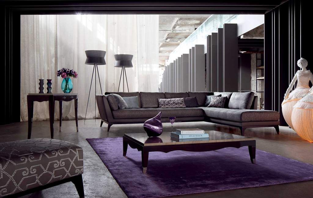 PERCEPTION modular sofa in leather and fabric Funky Furnishings - wohnzimmer mit brauner couch