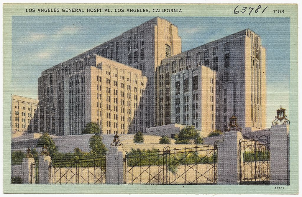 Los Angeles General Hospital Los Angeles California Artdeco Architecture Art Deco Architecture Los Angeles Architecture Tumblr