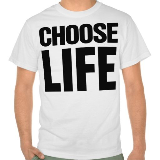 Choose Life 80's t shirt from Zazzle.