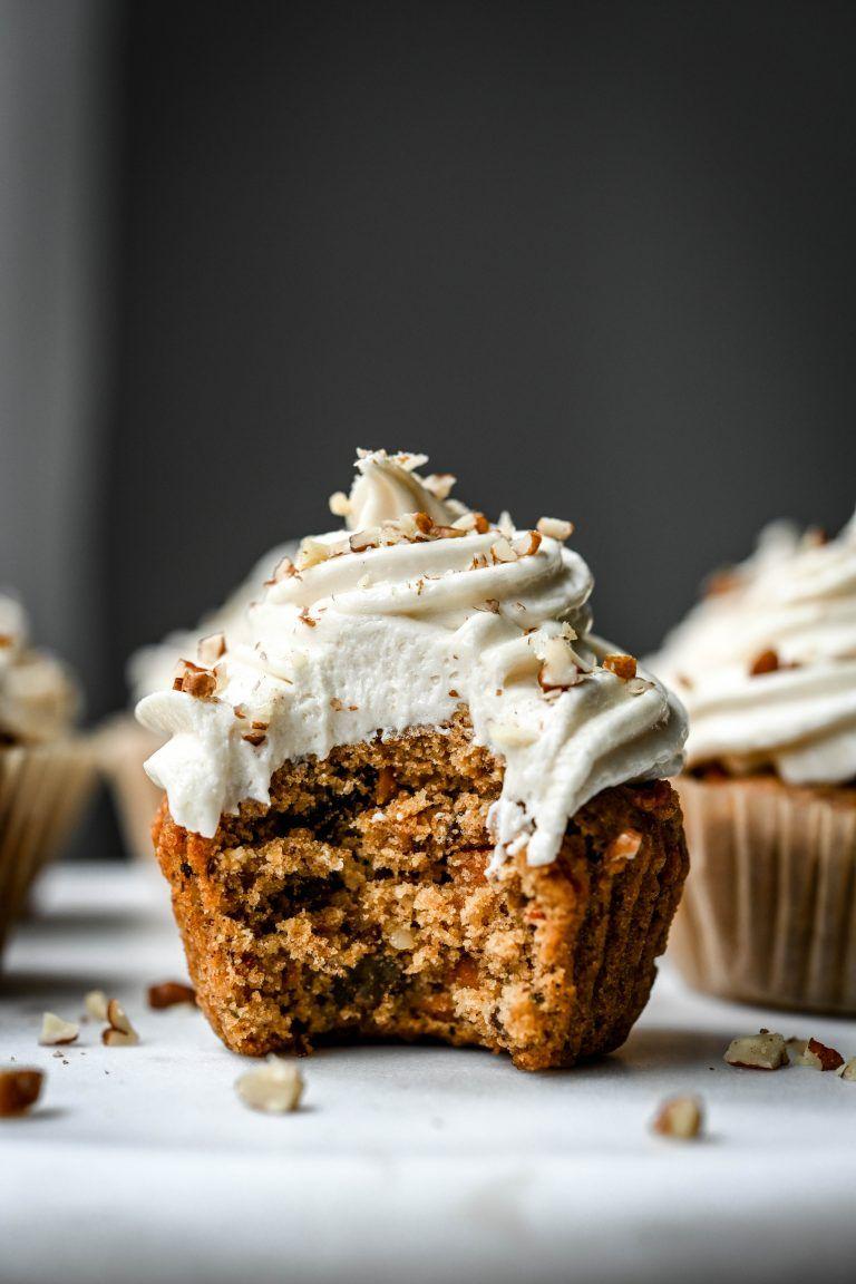 Carrot Cake Cupcakes (Vegan + Gluten Free) Recipe