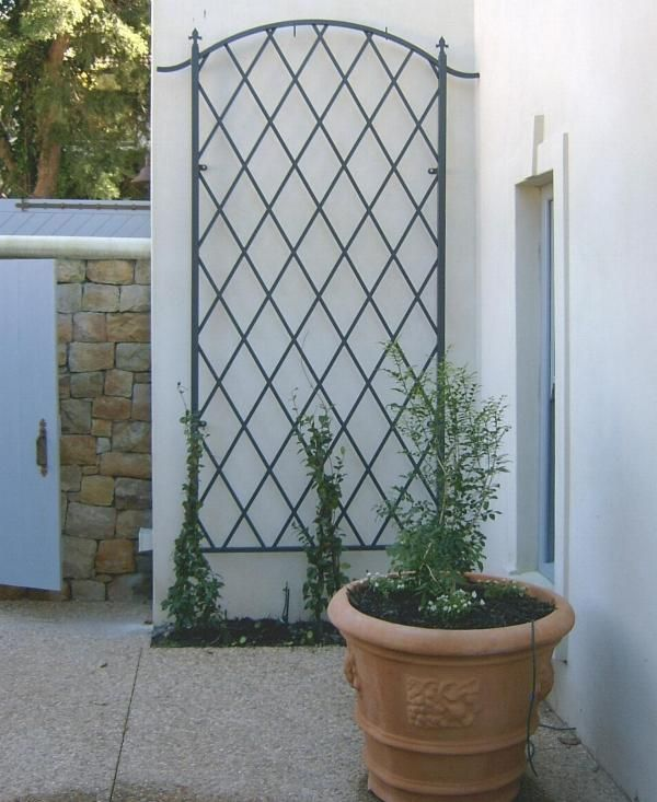 Simple Trellis Ideas Wall Trellis Simple Stylish Elegant And