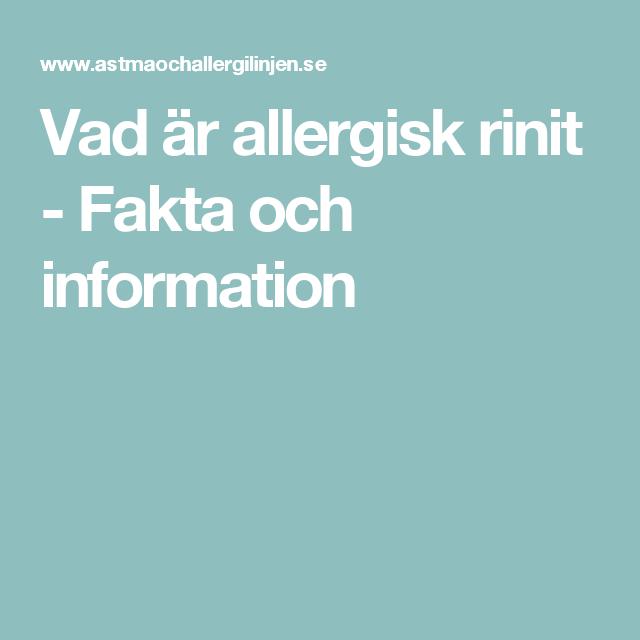 inflammation i nässlemhinnan