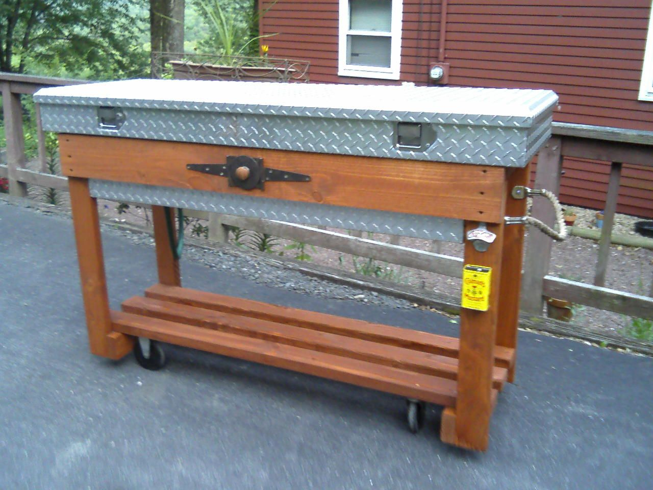 Tool box cooler Tool box diy, Truck tool box, Wood tool box