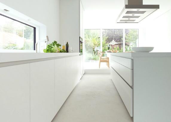Siematic keuken keukenblad wit contemporary kitchens in
