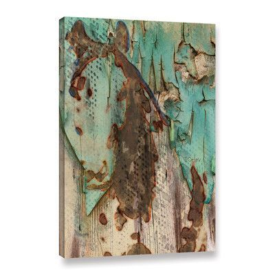 Mercury Row Eco Horse Painting Print on Wrapped Canvas Size: