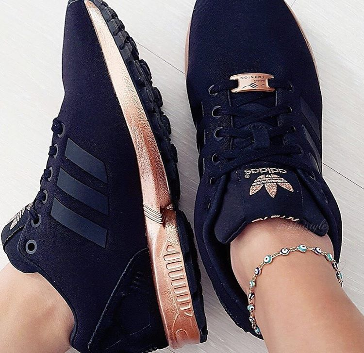 adidas ZX Flux Trainers – Black and Copper (Gold in 2019 ...