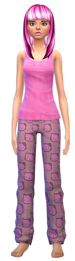 4 tank tops and 4 pj bottoms