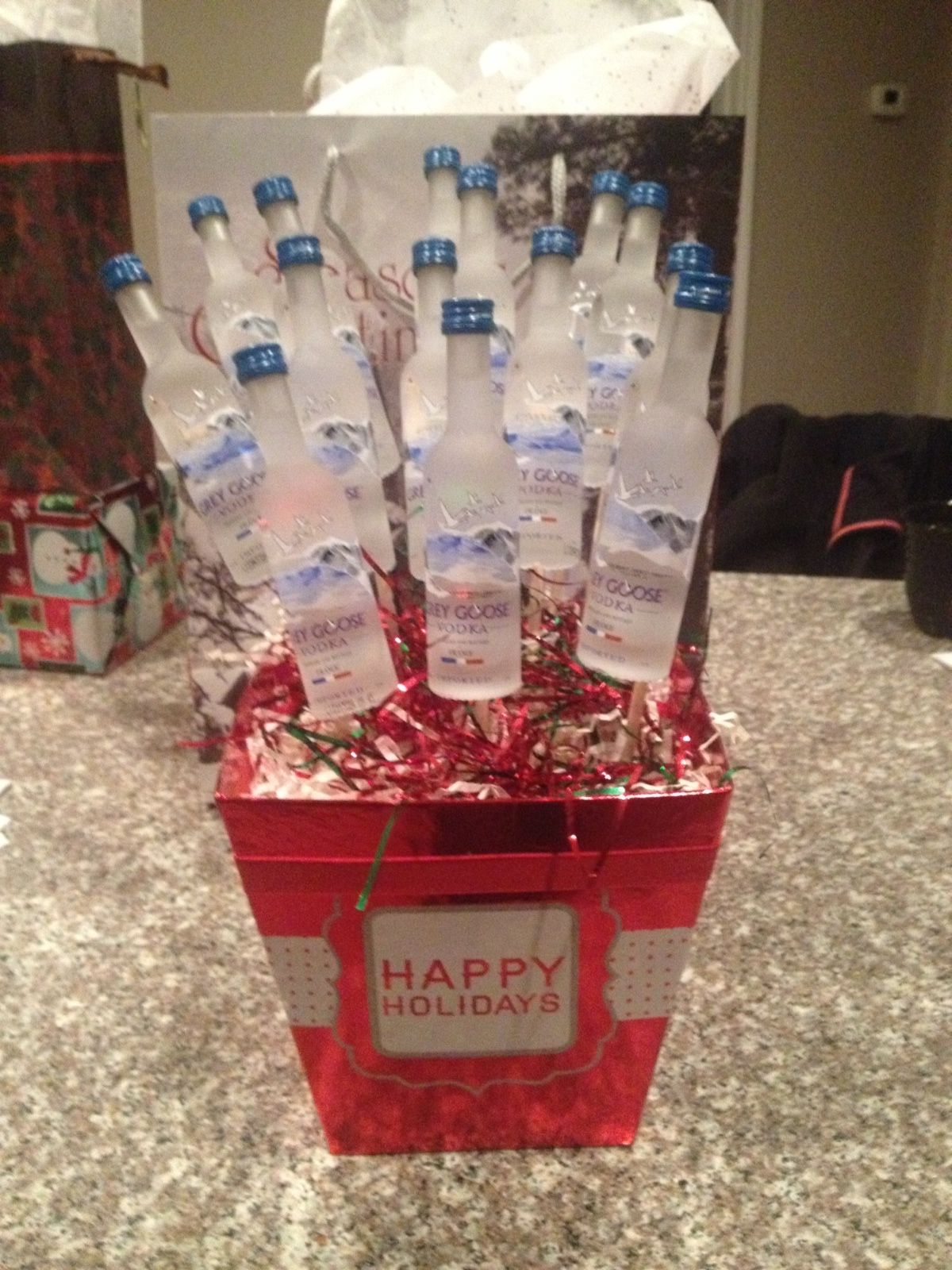 Vodka Or Liquor Bouquet Gift Ideas Pinterest
