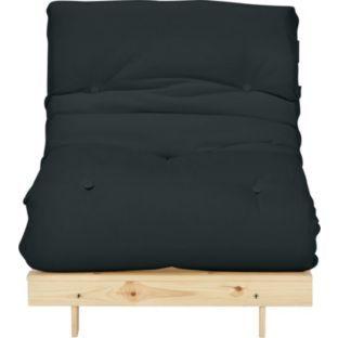 Colourmatch Single Futon Sofa Bed With Mattress Jet Black At Argos Co
