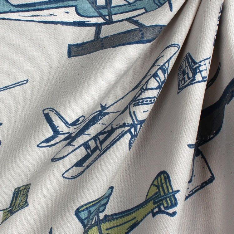 Sale Vintage Airplane And Helicopter Curtains, Window