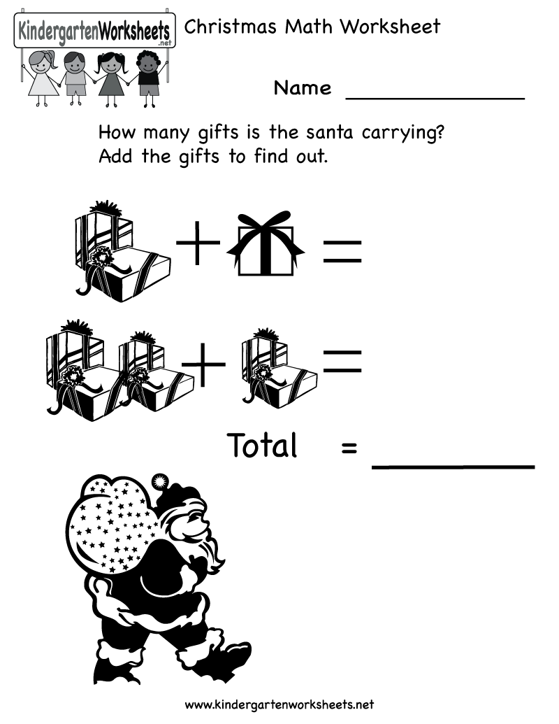 Kindergarten Christmas Math Worksheet Printable | Christmas ...