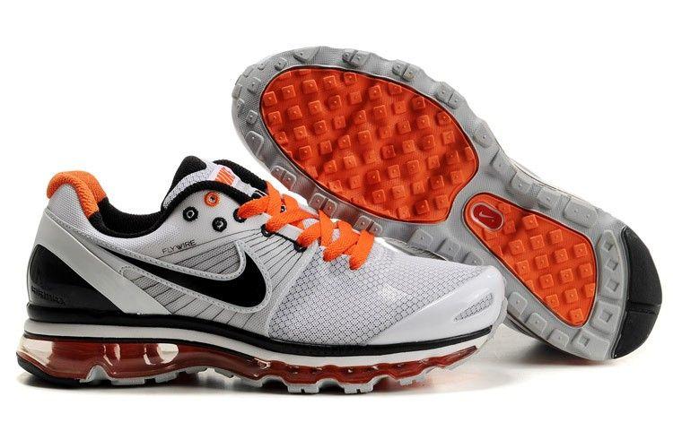 Pas Cher Nike Air Max 2010 Mesh Pour Homme Chaussures De Course Blanc Noir  Orange Magasin