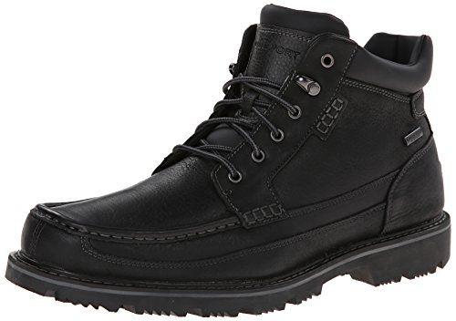 Rockport Men's Gentlemen WP Moc Toe Mid Chukka Boot, Black, 6.5 W US  Rockport