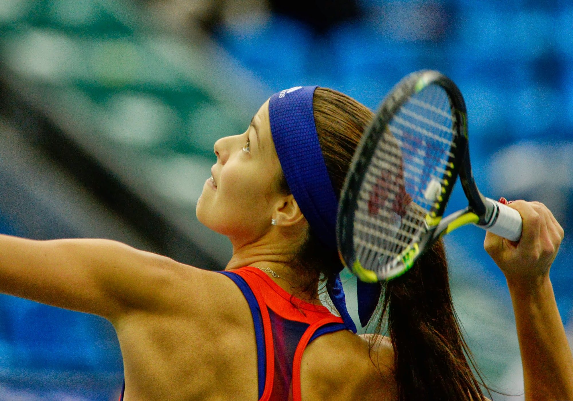Ana Ivanovic in her match against Sam Stosur of Australia in Moscow, Oct. 18, 2013. #WTA #Ivanovic #Moscow