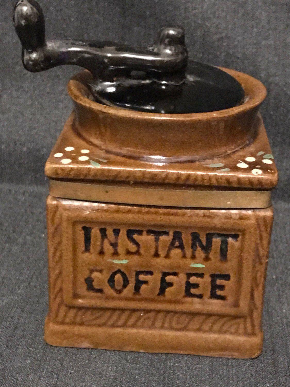 Vintage Coffee Jar Cannister Vintage Instant Coffee