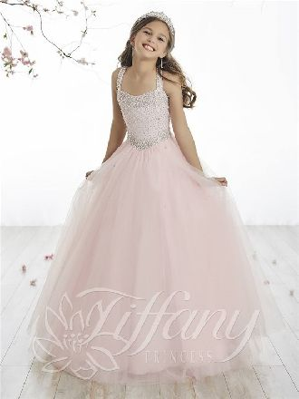 2018 Lace Up Tulle Floor Length Ball Gown Straps Beads Pink ...