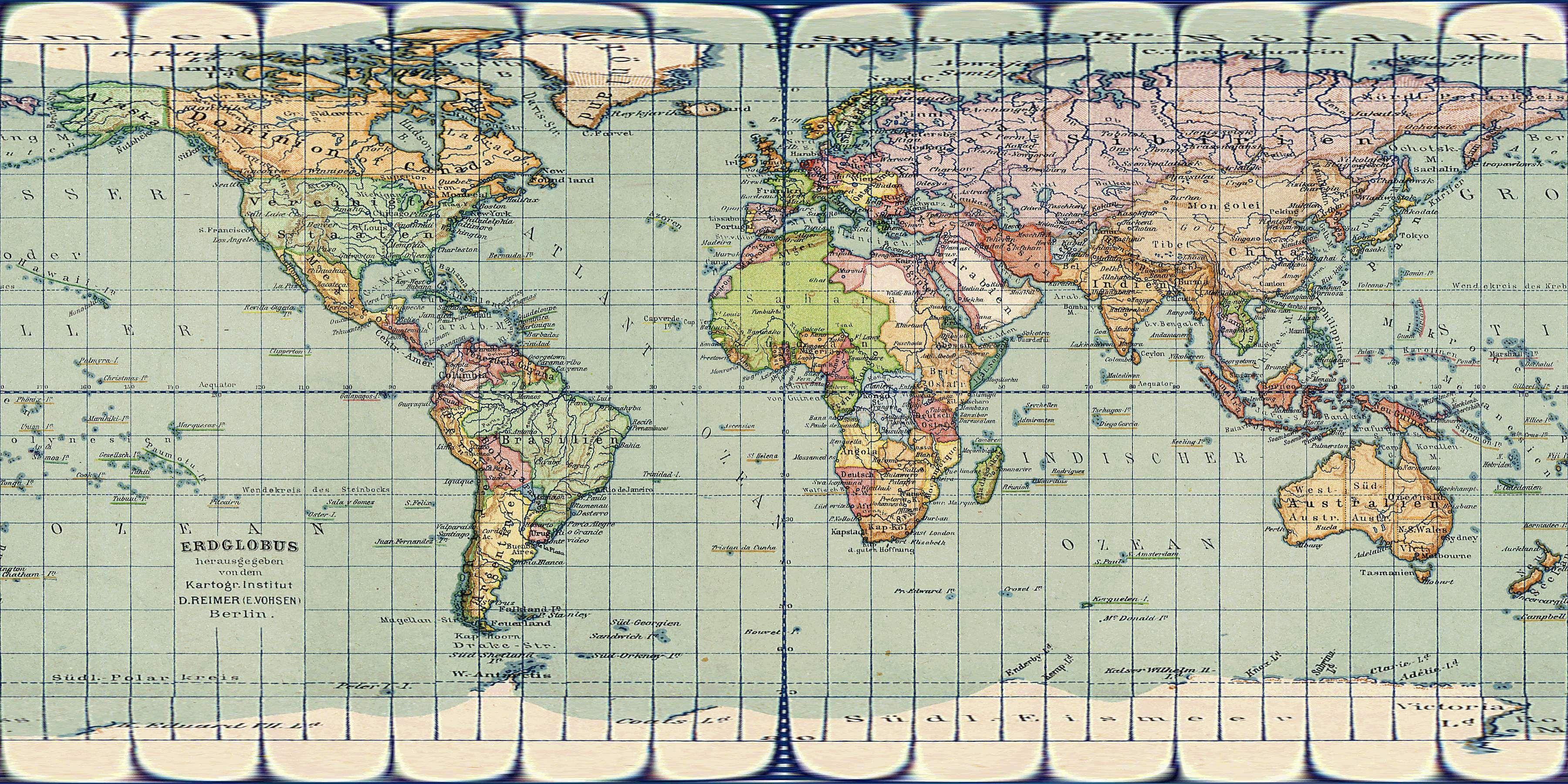 vintage world map high resolution Google Search – Map World High Resolution