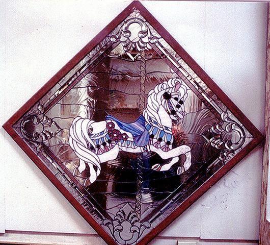 Dichroic Pole Carousel Horse - Delphi Artist Gallery