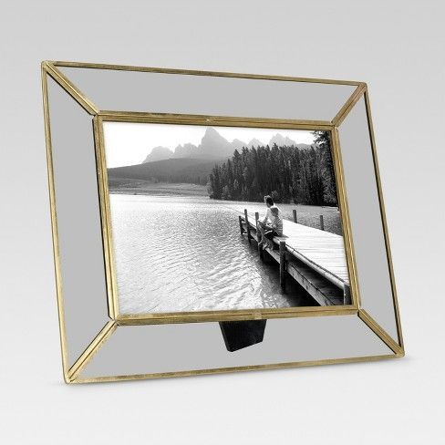 Threshold Single Image Frame 5X7 Brass | Contemporary picture frames ...