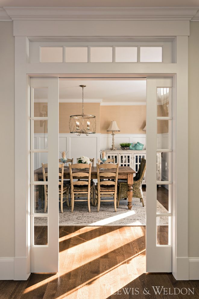 Dining Room Glass Pocket Doors And Transoms These Creates A Sense Of Intimacy To This Diningroom Gl