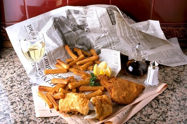 Wine what to drink with fish and chips white wine wine for Fish and chips newspaper