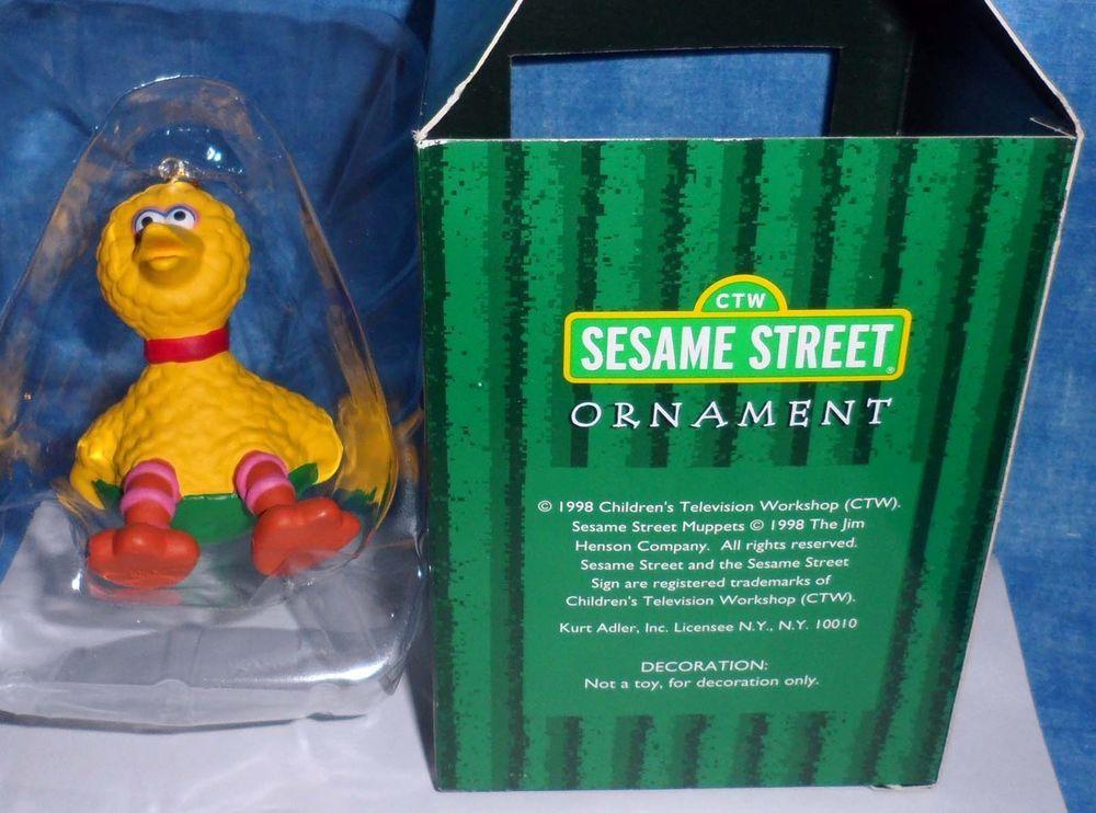 Gibson Sesame Street BIG BIRD on Snow Saucer Christmas Ornament by ...