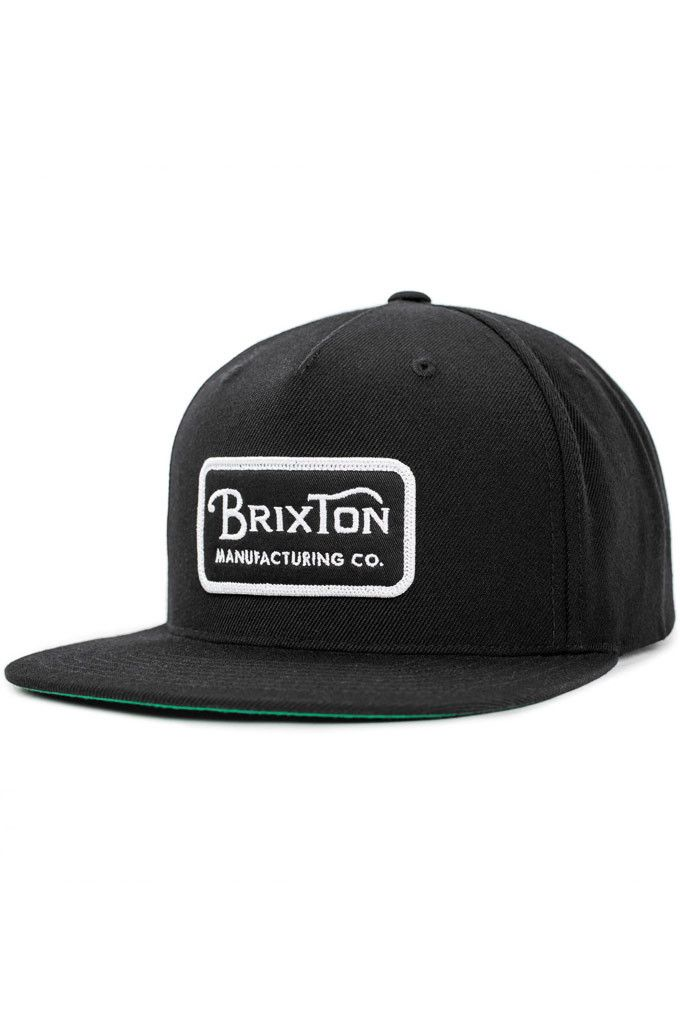 7b887b26c The Grade Snapback Hat from Brixton is a six-panel cut and sew ...