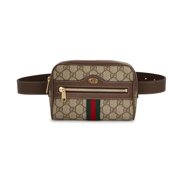 24d6dd655a4 Gucci Ophidia GG Supreme Small Belt Bag (£765) ❤ liked on Polyvore  featuring bags