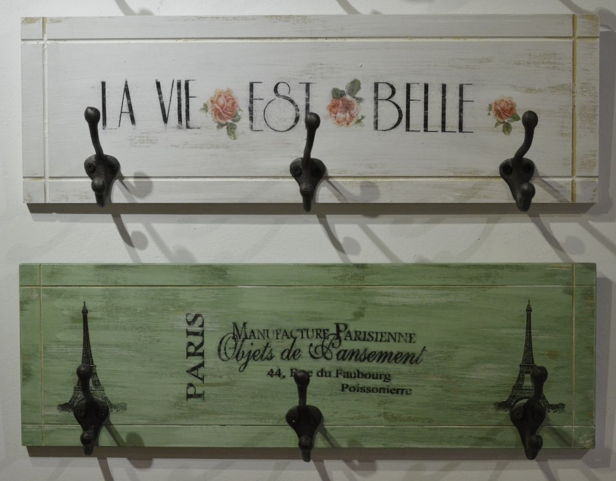 Perchero vintage x 3 bricolaje y manualidades - Percheros pared vintage ...