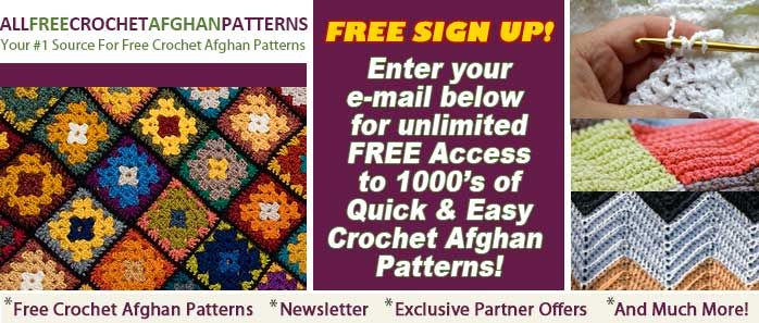 AllFreeCrochetAfghanPatterns.com - Free Crochet Afghan Patterns, Projects, How-To Crochet Afghans, Videos and More!