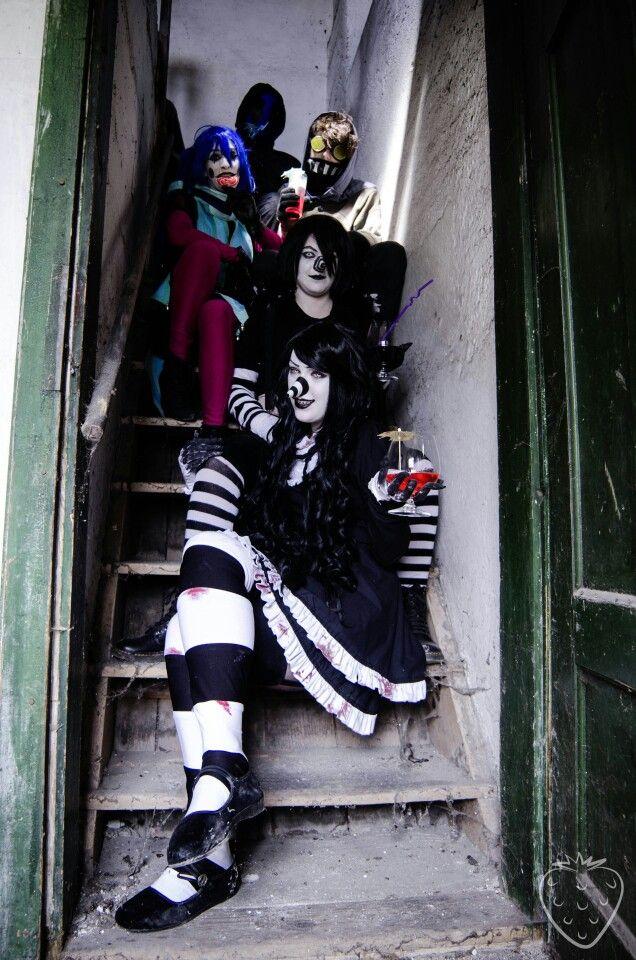 Eyeless jack ticci toby candy pop laughing jack laughing jill creepypasta cosplay
