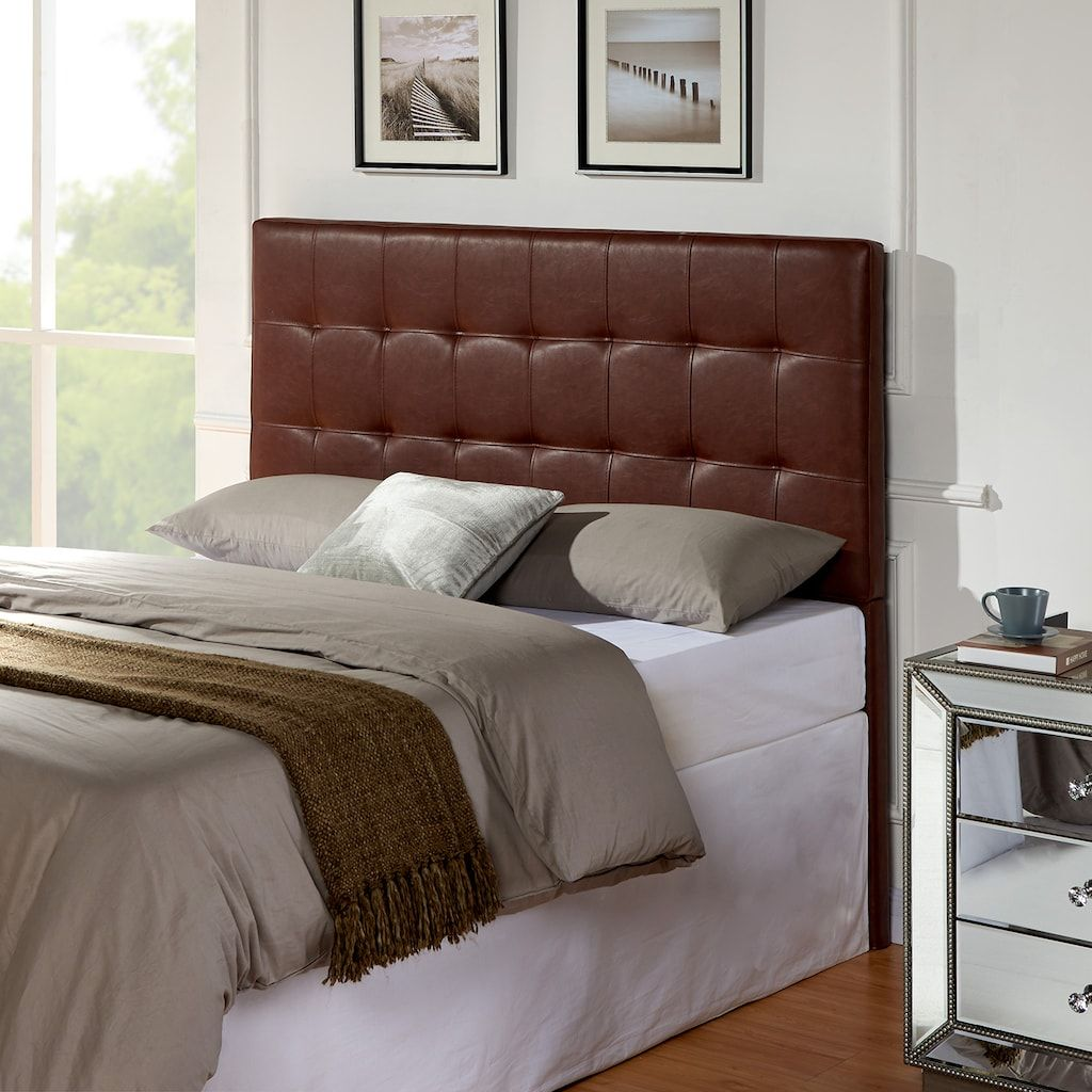 Andez Upholstered Headboard, Brown, Full/Queen Panel