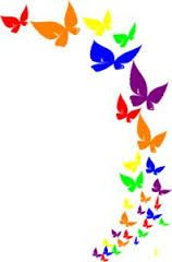 free frames for pngs google search butterflies everywhere rh pinterest com purple butterfly border clipart pink butterfly border clipart