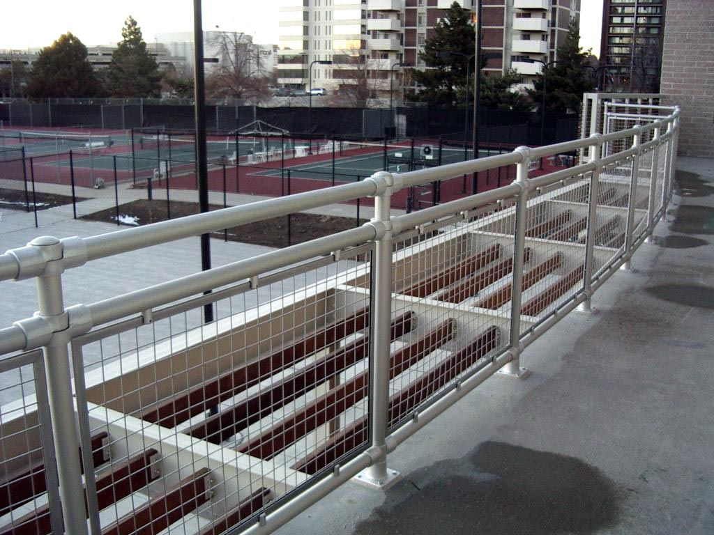 woven wire metal railings exterior | Aluminum Roof Railings with ...