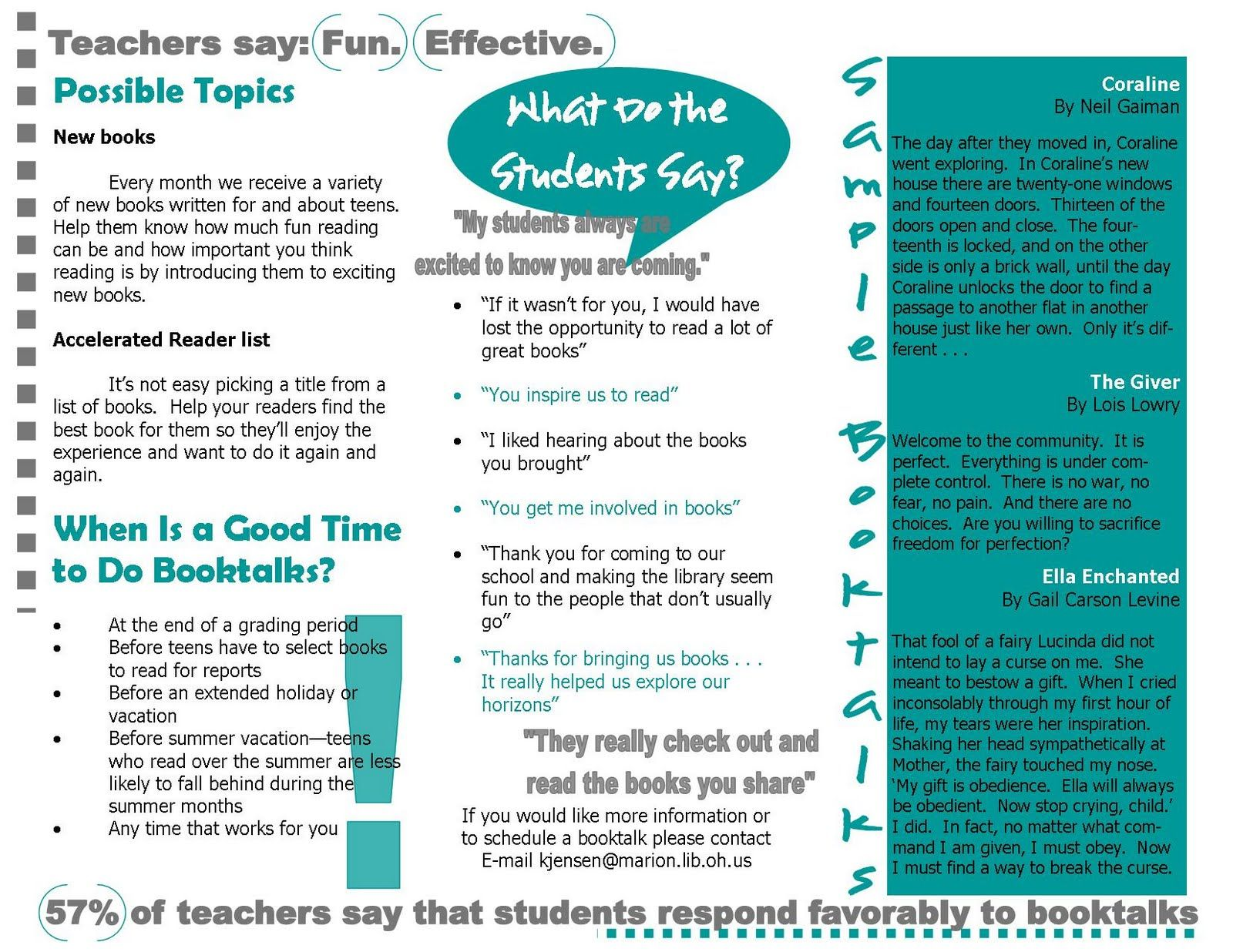 teacher brochure example