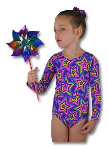 You will be crazy for our Star Crazy Long Sleeve Leotard