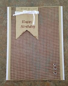 Paper Fundamentals: Masculine Birthday Card - The Brae-er #PaperFundamentals #Timberline #B1438BannerWishes